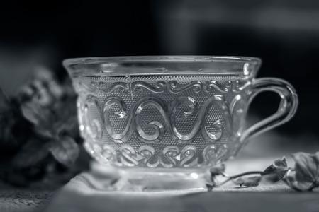 Glass tea cup Stock Photo