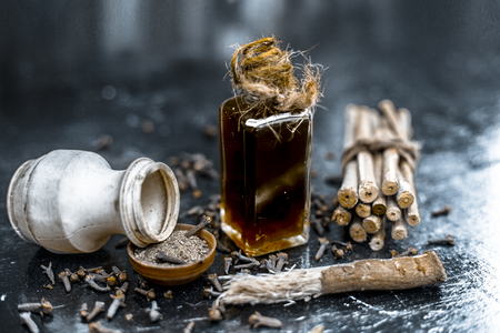 Popular home remedy for toothache or tooth related problems i.e Clove oil with powder of black pepper used with neem or arak bark.