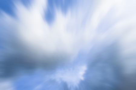 Nimbus clouds or monsoon clouds or rain clouds in the blue sky shot with motion blur effect. 免版税图像
