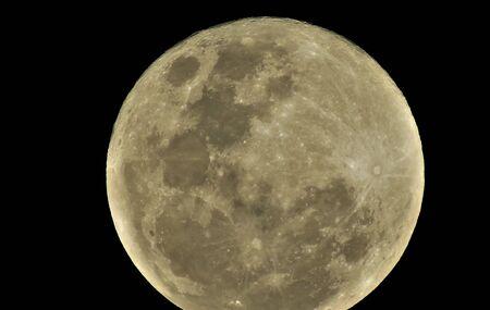 Detailed full moon against black night Stockfoto