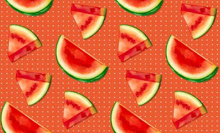 Watermelon Seamless Pattern Illustrations Stock fotó