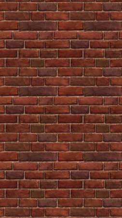 Horizontal brown red brick wallpaper. Pattern Illustrations Stock fotó
