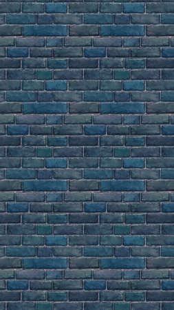 Vertically sized blue brick wallpaper. Seamless pattern material Stock fotó