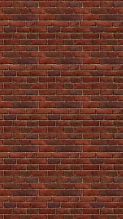 Illustration of a long brown red brick wallpaper. Seamless materials