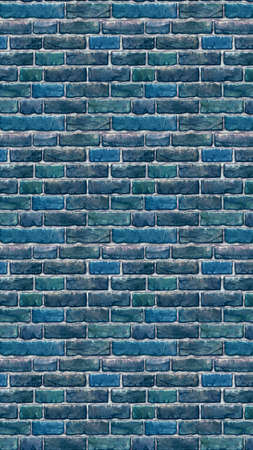Illustration of the vertical size blue brick wallpaper n. Seamless pattern material