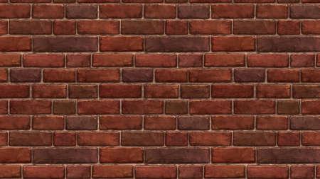 Horizontal brown red brick wallpaper. Seamless pattern material