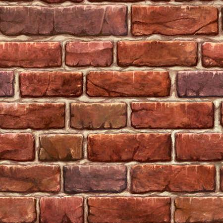 Seamless pattern tyling illustration of non-connecting brown vintage bricks (bricks)