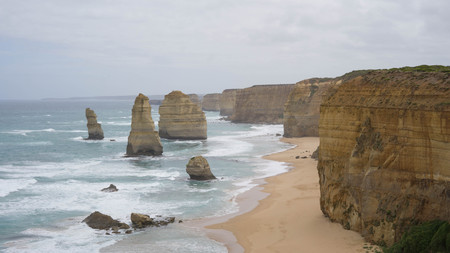 View of the Twelve Apostles at Port Campbell National Park, Australia Stock Photo