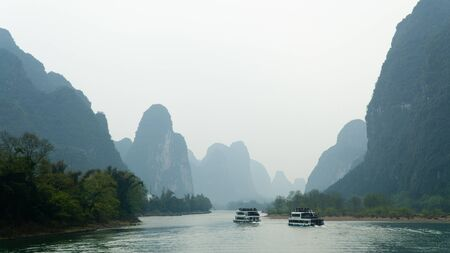Guilin, China: Spectacular boat trip from Guilin to Yangshuo along the Li river.
