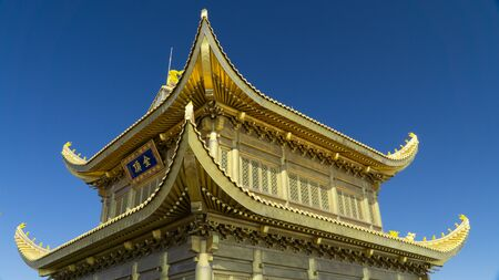 The Temple in the Golden Summit (3077 a.s.l.) of sacred Mount Emei, China