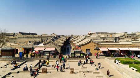 Pingyao Ancient City - a settlement in central Shanxi, view from city wall, China