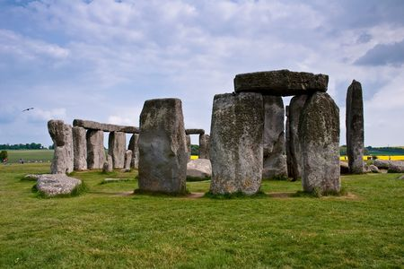 english famous: Stonehenge is a prehistoric monument  located in the English county of Wiltshire. One of the most famous sites in the world.  It is at the centre of the most dense complex of Neolithic  and Bronze Age monuments in England.