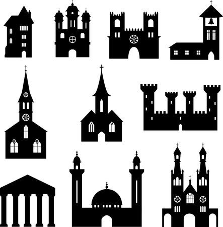 Set of buildings Illustration