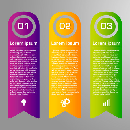 preset: Colorful ribbons design, customizable business templates Illustration