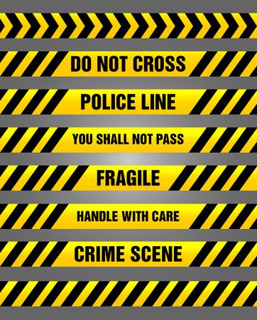 no pase: Cintas de precaución bundle - conjunto de signos de alarma
