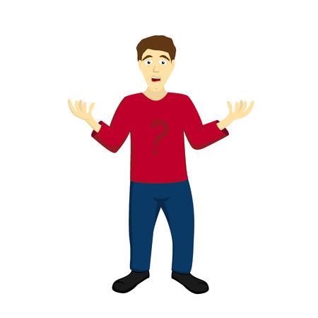 indeciso: Ilustraci�n de un hombre indeciso indefensos