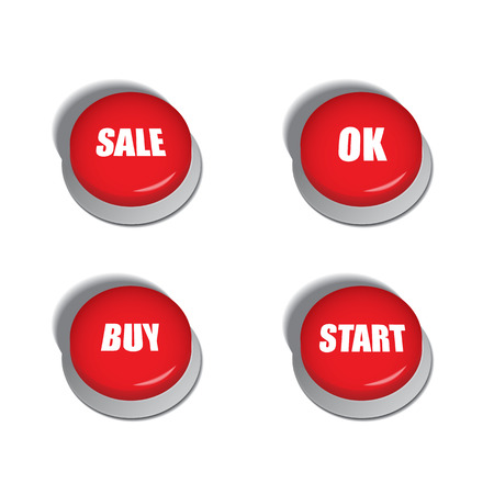 triggers: Red buttons with various commands such as sale, buy or start