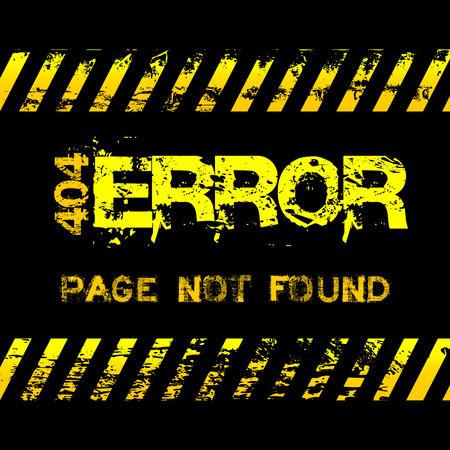 not found: P�gina no encontrada - error - estilo grunge cintas amarillas de precauci�n ilustraci�n