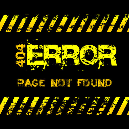 not found: Page not found - error - grunge style yellow caution tapes illustration
