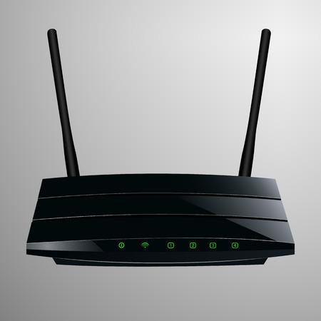 Realistische Darstellung eines schwarzen Router in einem schlanken modernen Design Standard-Bild - 30644235