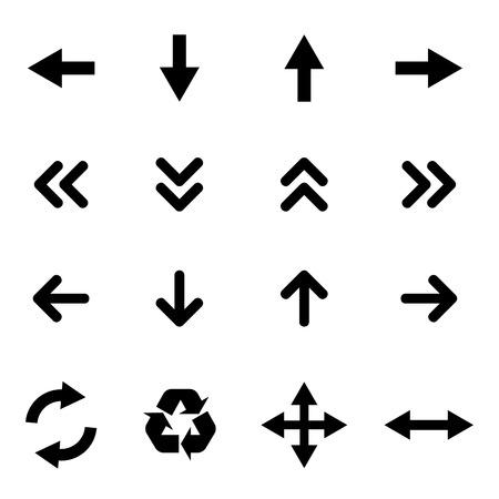 Set van vlakke pictogrammen - pijlen Stock Illustratie