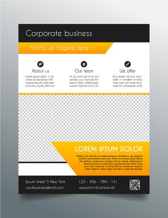 Geschäftsfliegerschablone - fresh orange Design Standard-Bild - 38204943