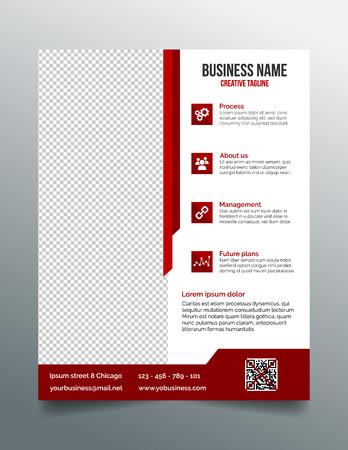 sjabloon: Corporate business flyer sjabloon in een modern strak design