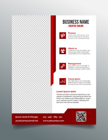 pages template: Corporate business flyer template in modern sleek design Illustration