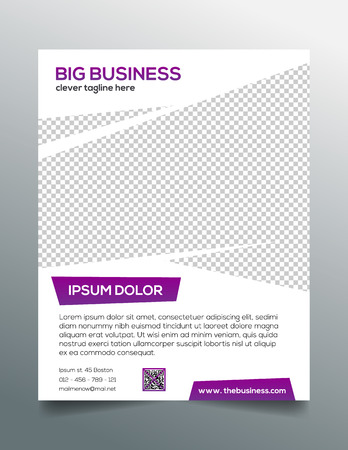 product reviews: Clean modern business flyer template in purple white design