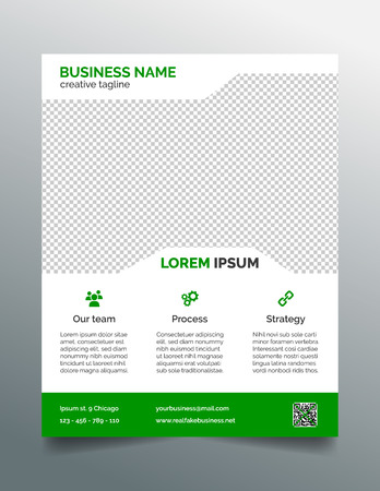 leaflet: Business flyer template - simple green design