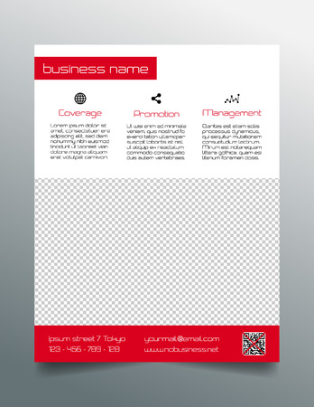 prospects: Business flyer design - simple red minimalistic style Illustration