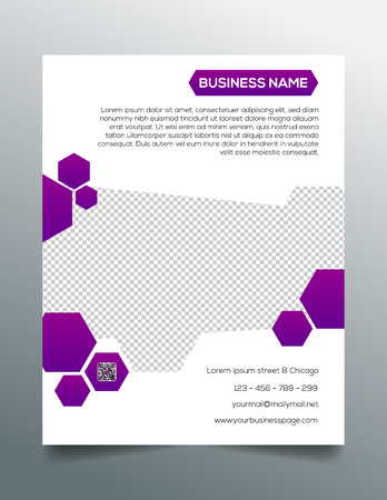 Business flyer template - creative purple design