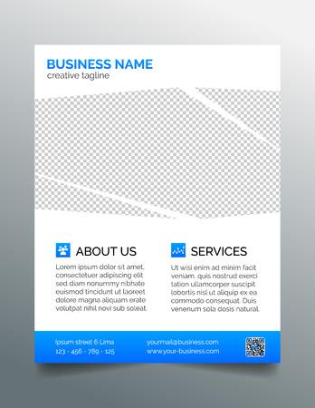 Corporate business flyer template - light blue design Иллюстрация