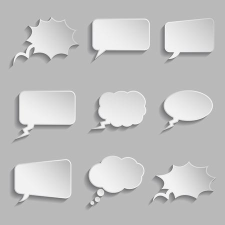 burbujas de pensamiento: Colecci�n de burbujas de pensamiento de estilo comic - mirada 3D