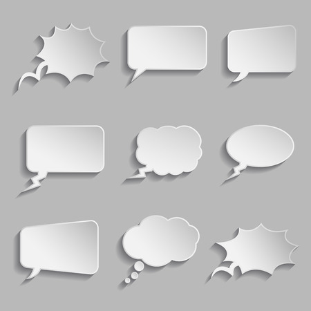 Collection of comic style thought bubbles - 3D look