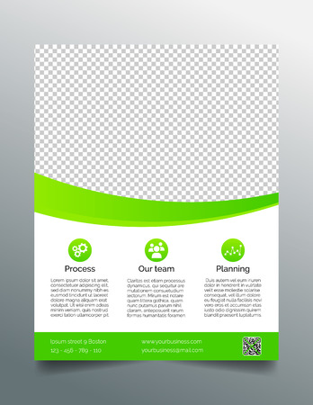 Business flyer template  simple sleek design in bright green