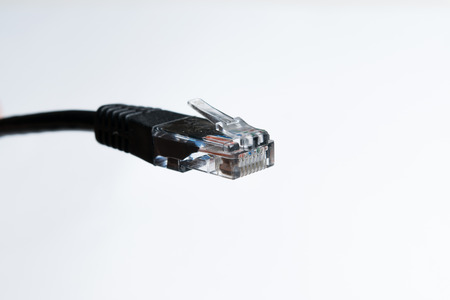 LAN cable plug isolated