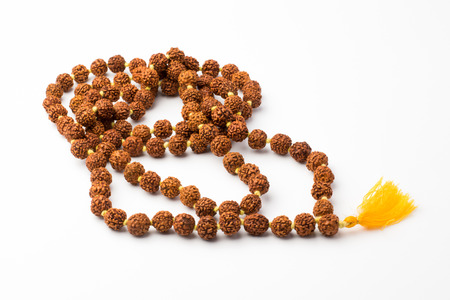 seed beads: Japa mala prayer beads  isolated