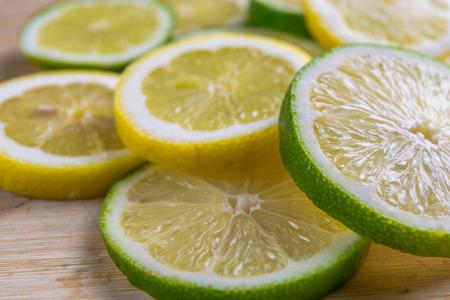 Citrus slices  lemon and lime
