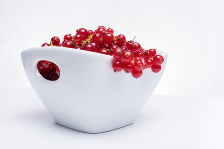 Bowl of fresh red currants