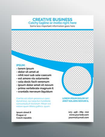 sleek: Corporate business flyer template Illustration