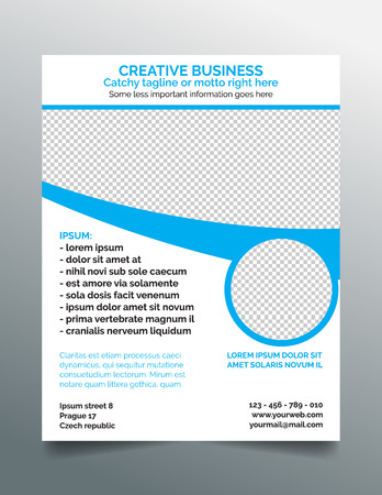 Corporate business flyer template Illustration