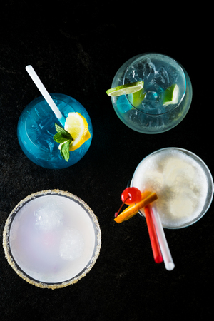 Summer cocktails Фото со стока