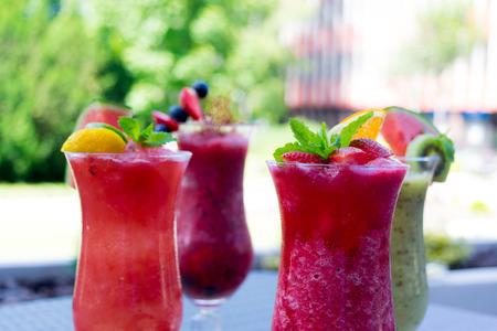 Fresh summer smoothie drinks
