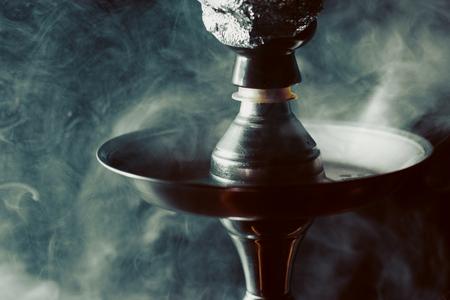 Conceptual photo of hookah with smoke Stok Fotoğraf - 76049854