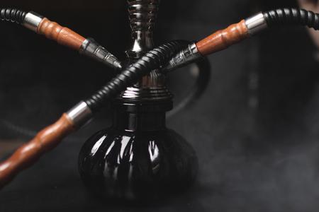 bong: Conceptual photo of hookah with smoke