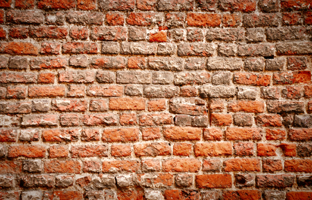close up picture of very old brick wall background