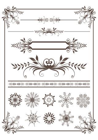 dingbats: Decorative elements Illustration