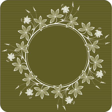 Floral ornament (round) Stock Vector - 469768