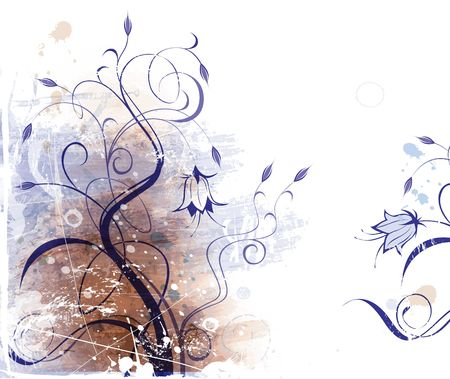 Grunge floral background Stock Photo - 547046